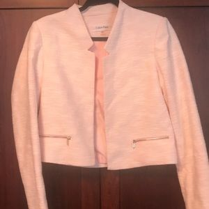 Jackets & Blazers - Like new white and pink tweed